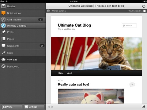 Wordpress-iPad-app